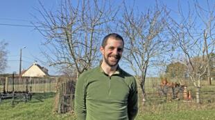 Rémy de Goulard, maraîcher au potager de l'Epinay à Orcemont (Yvelines).