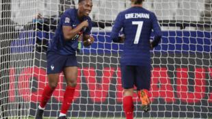 L'attaquant de l'équipe de France Anthony Martial, un des grands artisans de la victoire 4-2 face à la Croatie.