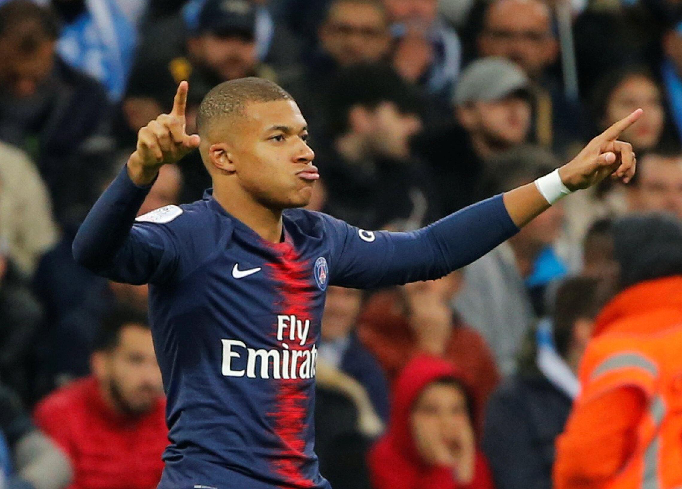 Kylian Mbappé n'a mis que trois minutes pour marquer avec le PSG sur la pelouse de l'OM, le 28 octobre 2018.