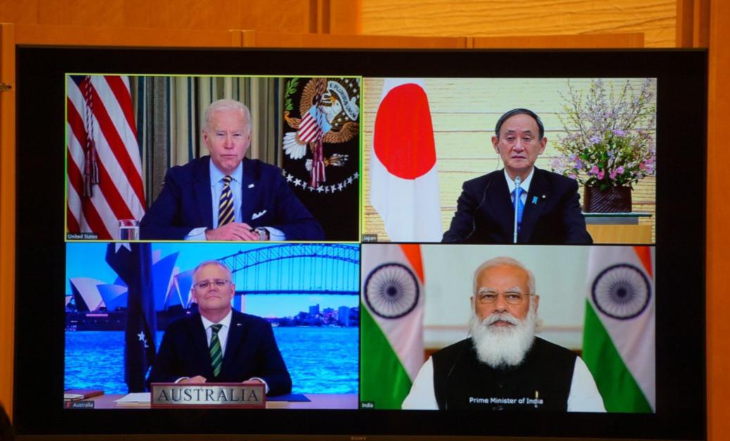 美日印澳四國領導人資料圖片