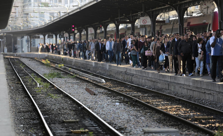 Paris's Gare de l'Est station during last year's rail strike, 16 June 2014