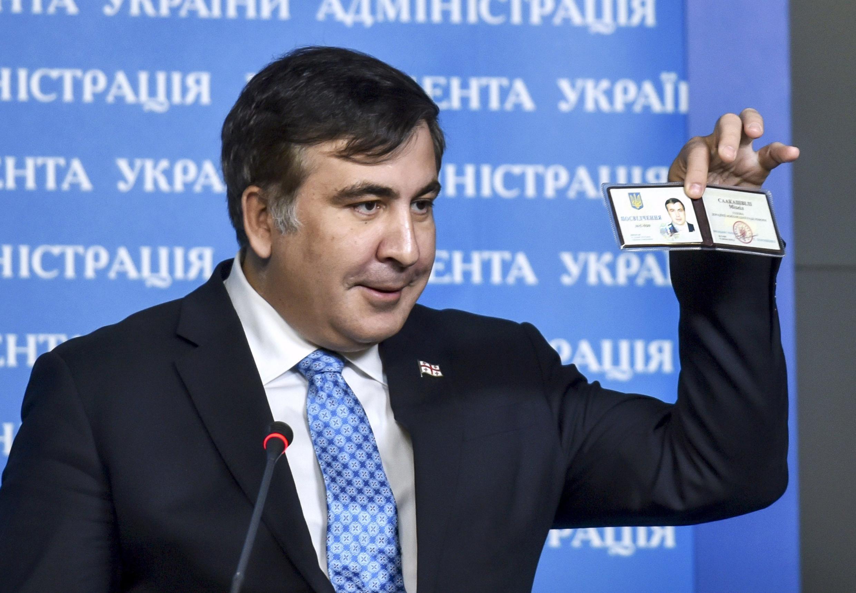 Михаил Саакашвили в Киеве после назначения на должность советника президента