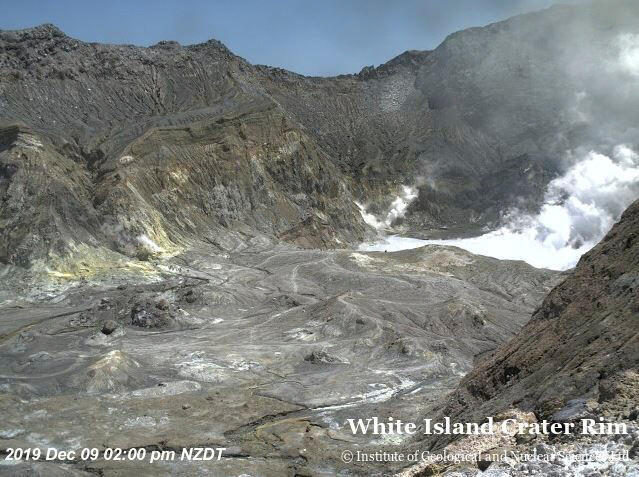 Diversos turistas estavam perto do vulcão de White Island quando ele entrou em erupção