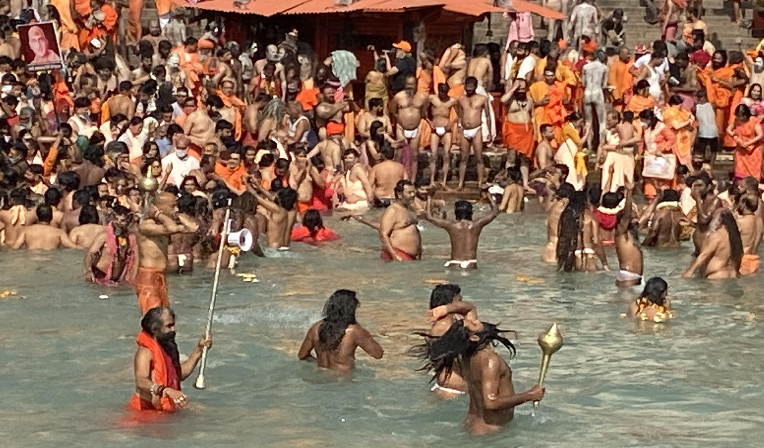 India's coronavirus epidemic and government health restrictions could not stop the once every 12 year Kumbh Mela festival from going ahead.