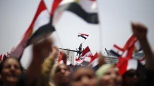Les manifestants égyptiens réclament la démission du président Mohamed Morsi.