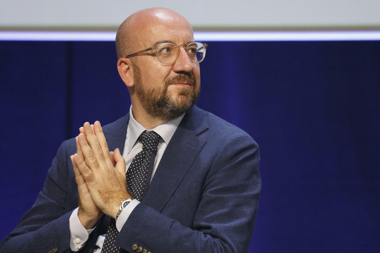 El presidente del consejo europeo, Charles Michel, participa en el Congreso Mundial de la Naturaleza de la UICN, el 3 de septiembre de 2021 en Marsella, sur de Francia.