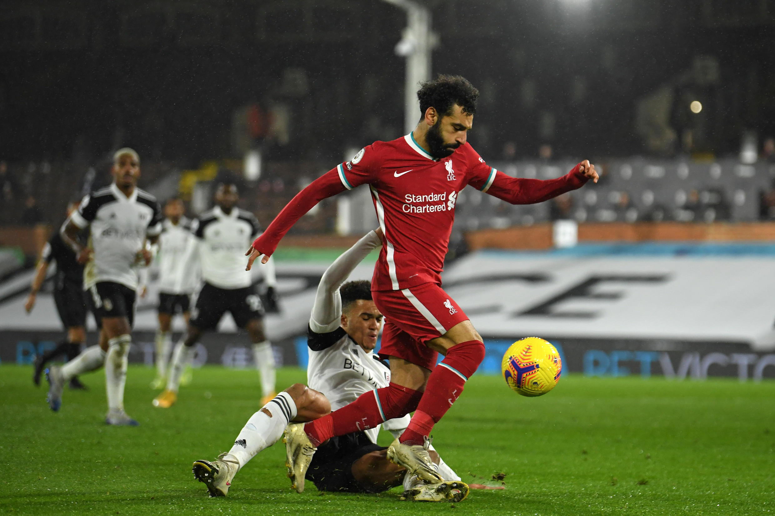 Liverpool's Mohamed Salah rescued a draw at Fulham
