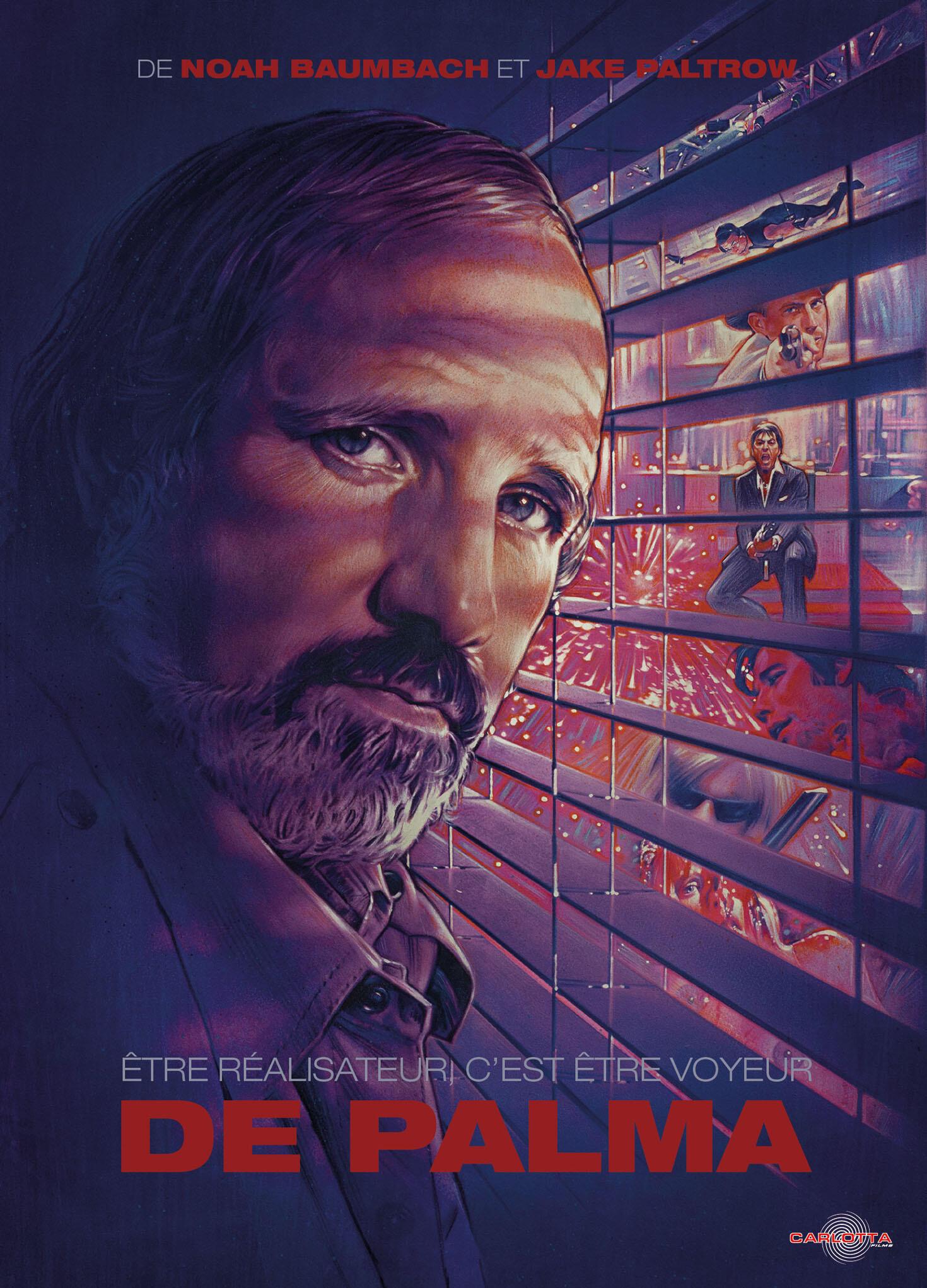 Pochette (détail) du DVD « De Palma : être réalisateur, c'est être voyeur », documentaire consacré à la carrière de Brian de Palma.