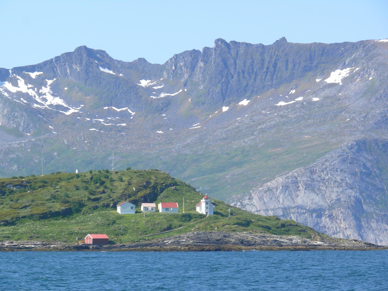 Dans le Fjord vers Tromso, en Norvège.