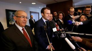 Emmanuel Macron in Algiers on 13 February