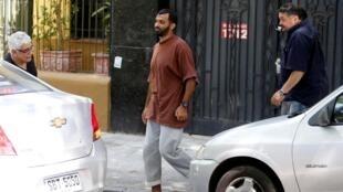 Un ancien détenu palestinien de Guantanamo, Mohammed Tahanmatan,  dans un quartier de Montevideo, le 12 Décembre 2014.