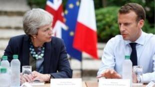 Emmanuel Macron et Theresa May à Brégançon.