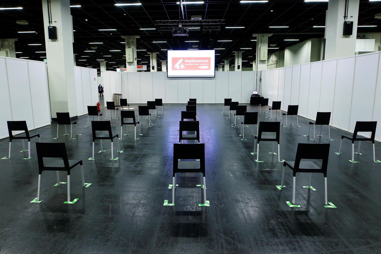 3月18日,德國科隆,臨時設在博覽會大廳的疫苗接種中心。
