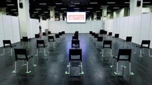 3月18日,德国科隆,临时设在博览会大厅的疫苗接种中心。