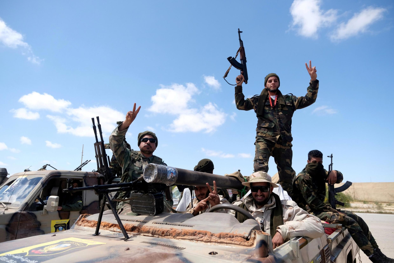 Des membres de l'Armée nationale libyenne, à Benghazi, le 7 avril 2019 (image d'illustration).
