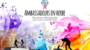 Affiche de la sixième rencontre des ambassadeurs en herbe.