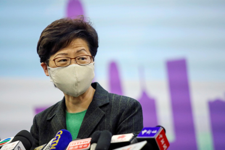 Lãnh đạo đặc khu Hồng Kông Lâm Trịnh Nguyệt Nga (Carrie Lam) nằm trong danh sách trừng phạt đầu tiên của Mỹ. Ảnh 6/11/2020.