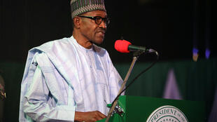 尼日利亞總統布哈里大選獲勝連任反對派質疑2019年2月27日阿布賈