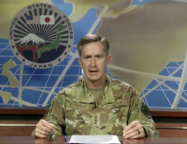 駐日美軍司令空軍中將凱文·施耐德資料圖片