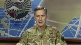 驻日美军司令空军中将凯文·施耐德资料图片