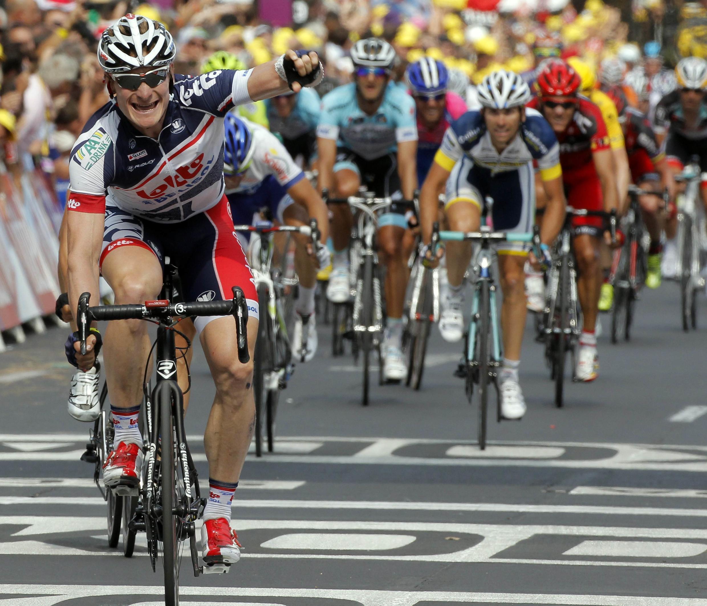 Андре Грайпель пришел первым на 13 этапе Тур де Франс 14 июля 2012 г.