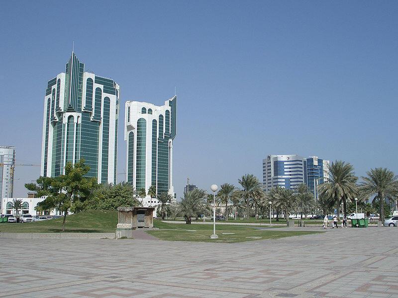 Prédios modernos em Doha, a capital do Catar.