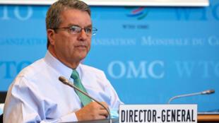Tổng giám đốc WTO, Roberto Azevedo, tại Genève, Thụy Sĩ, ngày 22/07/2020.