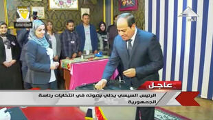 O presidente egípcio, Abdel Fattah Al-Sissi, vai governar o país por mais quatro anos.