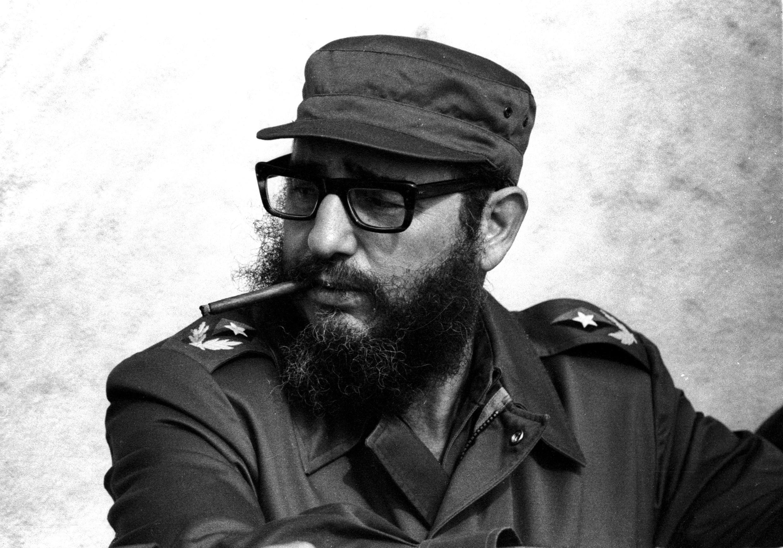 Archivo. Fidel Castro durante las celebraciones del decimonoveno aniversario de la Revolución cubana, La Habana, Noviembre de 1976.