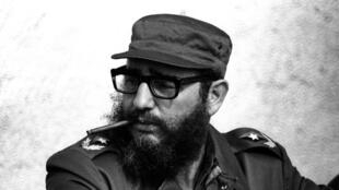 A file picture of Cuban leader Fidel Castro, who died in Havana aged 90.