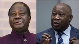 Former Presidents of Cote d'Ivoire Henri Konan Bedié (Left) and Laurent Gbagbo (Right)