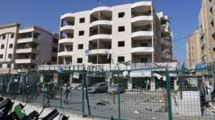 دفتر رایزنی فرهنگی ایران در جنوب بیروت که هدف دو انفجار انتحاری قرار گرفت.