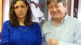 Ariana Harwicz y Jordi Batallé en RFI