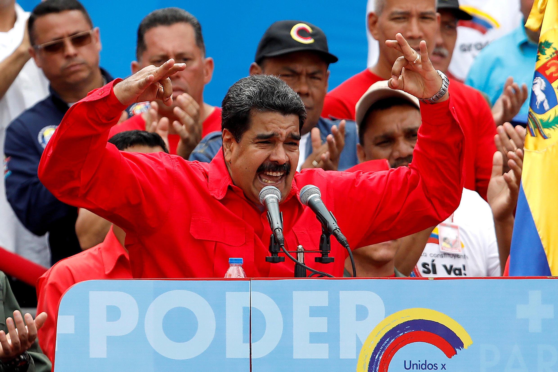 Nicolas Maduro durante un discurso en Caracas, el pasado 27 de julio.