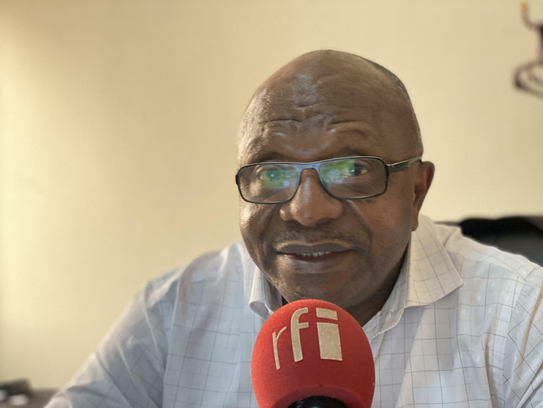 Kinshasa, RDC, juillet 2021 : Dieudonné Bolengetenge, secrétaire général du parti de Moise Katumbi s'indigne du sort réservé à Jacky Ndala, président de la ligue des jeunes d'Ensemble pour la République.