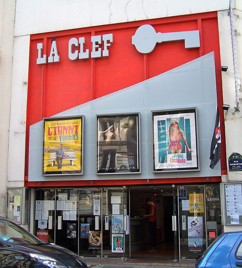 The independent cinema hall La Clef in the 5th arrondissement in Paris