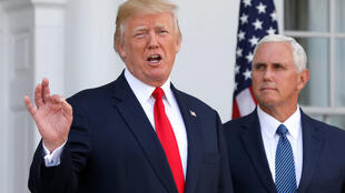 美国总统特朗普和副总统彭斯2017年8月10号在美国新泽西