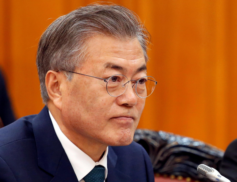 法广存档图片:韩国总统文在寅  Image d'archive RFI: Le président sud-coréen Moon Jae-in