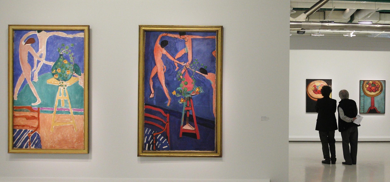 "Tranh đôi ""Capucines à la Danse"" nhân cuộc triển lãm Matisse tại Beaubourg, Paris (REUTERS)"