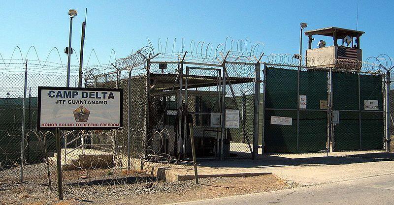 L'entrée du camp Delta de Guantanamo, situé dans l'île de Cuba