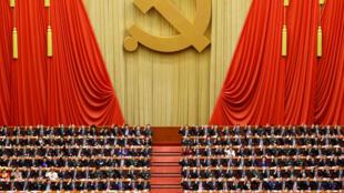 北京人大會堂中共十九大會議現場(2017年10月18日至24日)