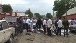 На месте взрыва в Малгобеке