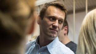 Le leader de l'opposition à Vladimir Poutine Alexeï Navalny, à Moscou, le 30 décembre 2014.