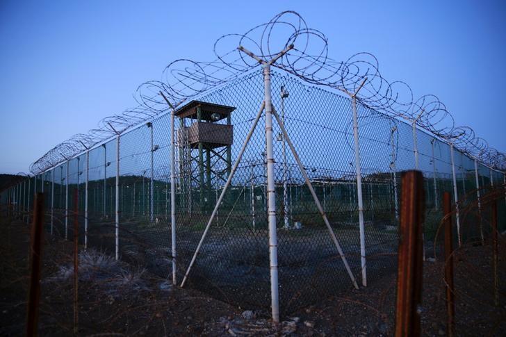 Le camp de Guantanamo, sur la base navale américaine du même nom, à Cuba, le 21 mars 2016.