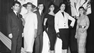 Karl Lagerfeld and Yves Saint Laurent, 11 Decembre 1954