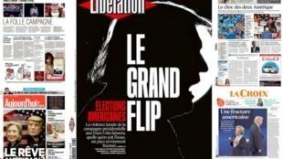 A eleição presidencial nos Estados Unidos divide o país, dizem os jornais franceses desta terça-feira (8).