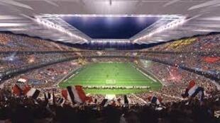 Imagem do Estádio da França de Futebol, em S.Denis, nos arredores de Paris.