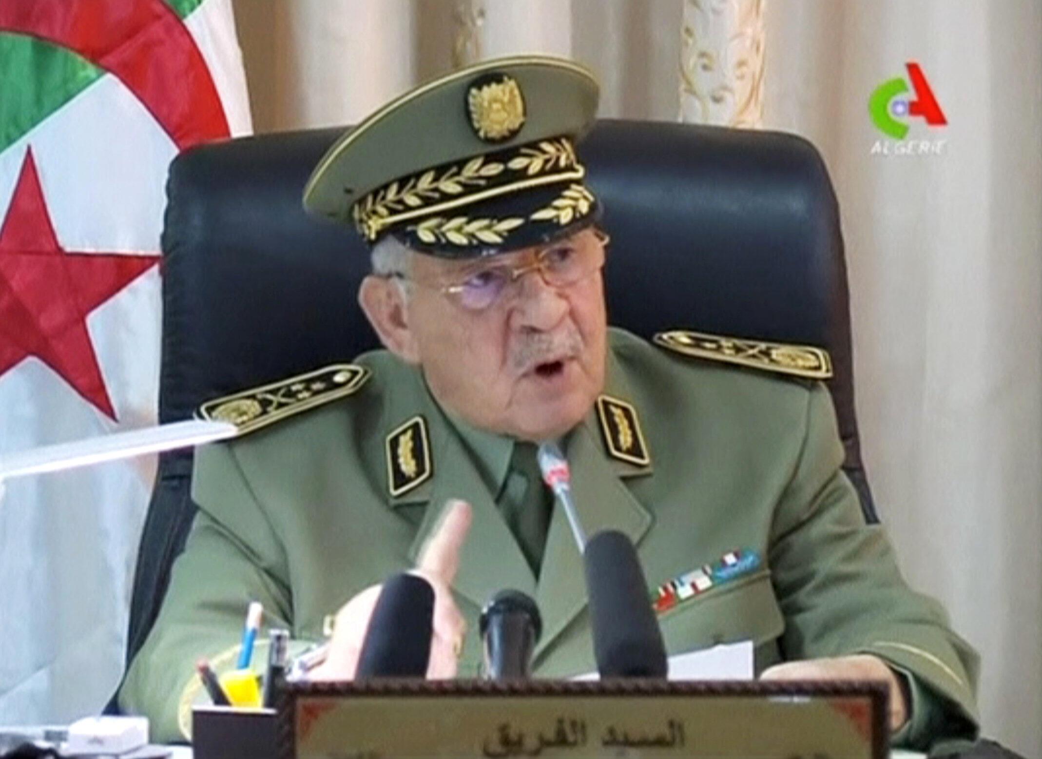 Ahmed Gaid Salah Aprili 2, 2019 Algiers.