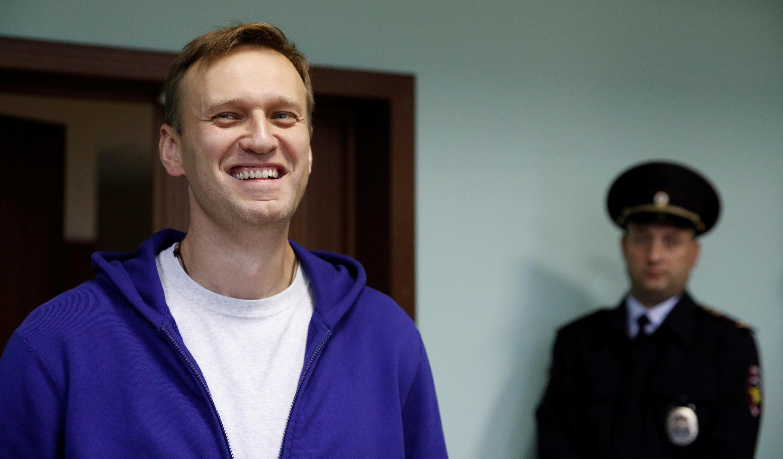 Алексей Навальный в Московском городском суде, 6 октября 2017.
