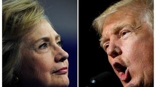US Democratic candidate Hillary Clinton faces off with Republican candidate Donald Trump